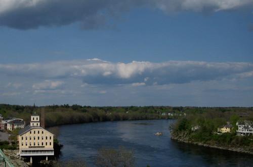 bridge clouds river maine brunswick seadog androscoggin topsham blueribbonwinner vogonpoetry