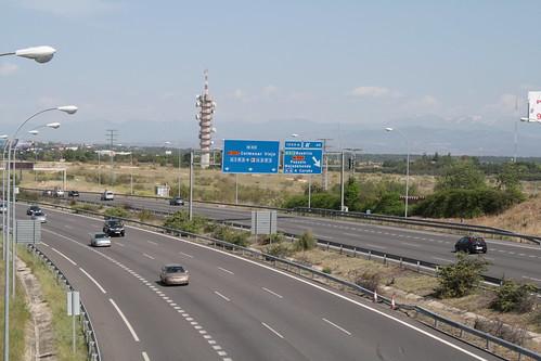 Una autopista en Madrid