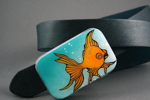Bug Eyed Gold Fish Belt Buckle