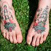 photo of the day 16/5/200 - Matt's Tattooed Feet