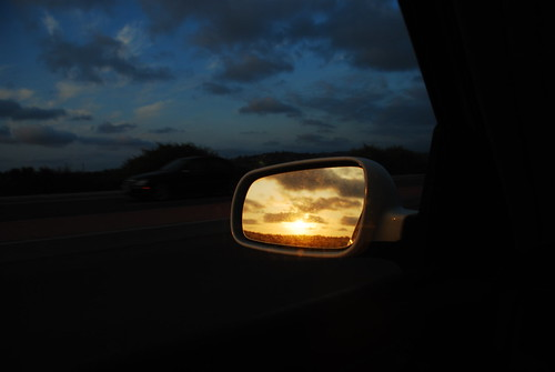 Sunset in my sideview mirror