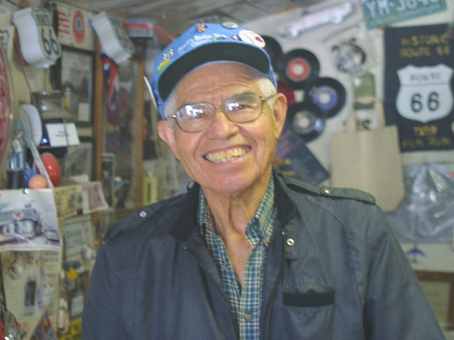Seligman AZ - Angel Delgadillo, Founder of the Historic Route 66 Assoc