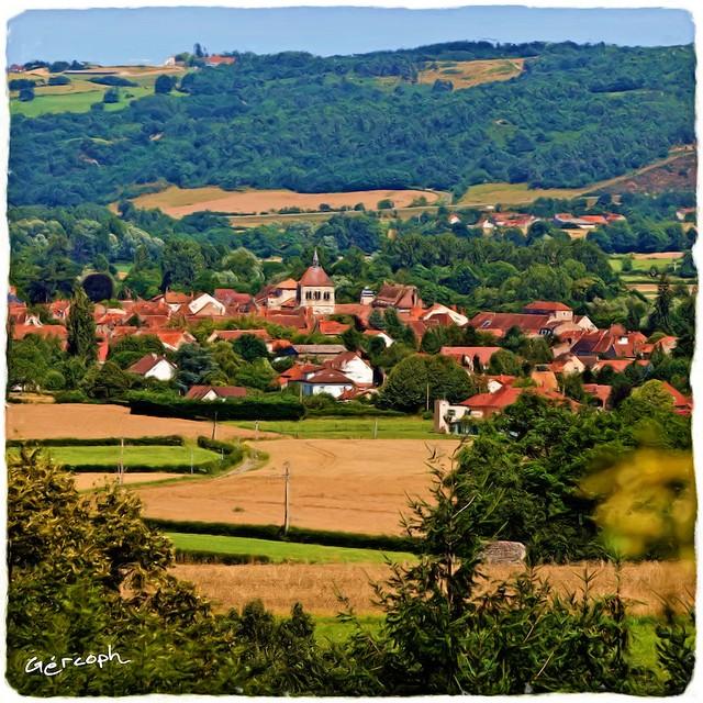 Village d' Ebreuil - Allier - Auvergne - France