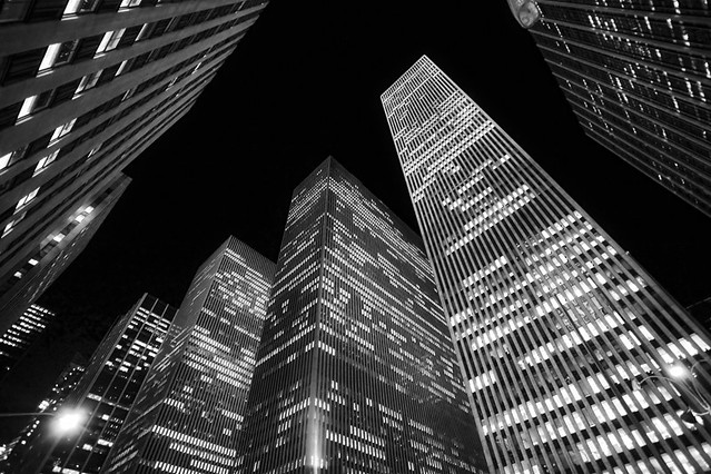 Into the Night, Manhattan, New York, by Jörg Dickmann