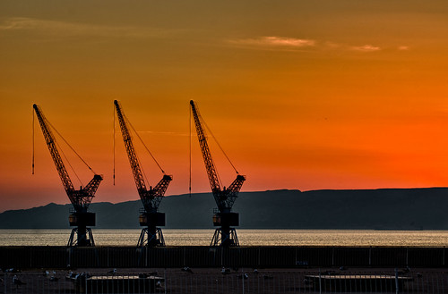 sunset sky orange sun france color digital marseille nikon best cranes 70300mm med hdr lightroom nikefex 3epx d7000