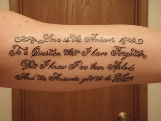 Inner Arm Tattoo Writing