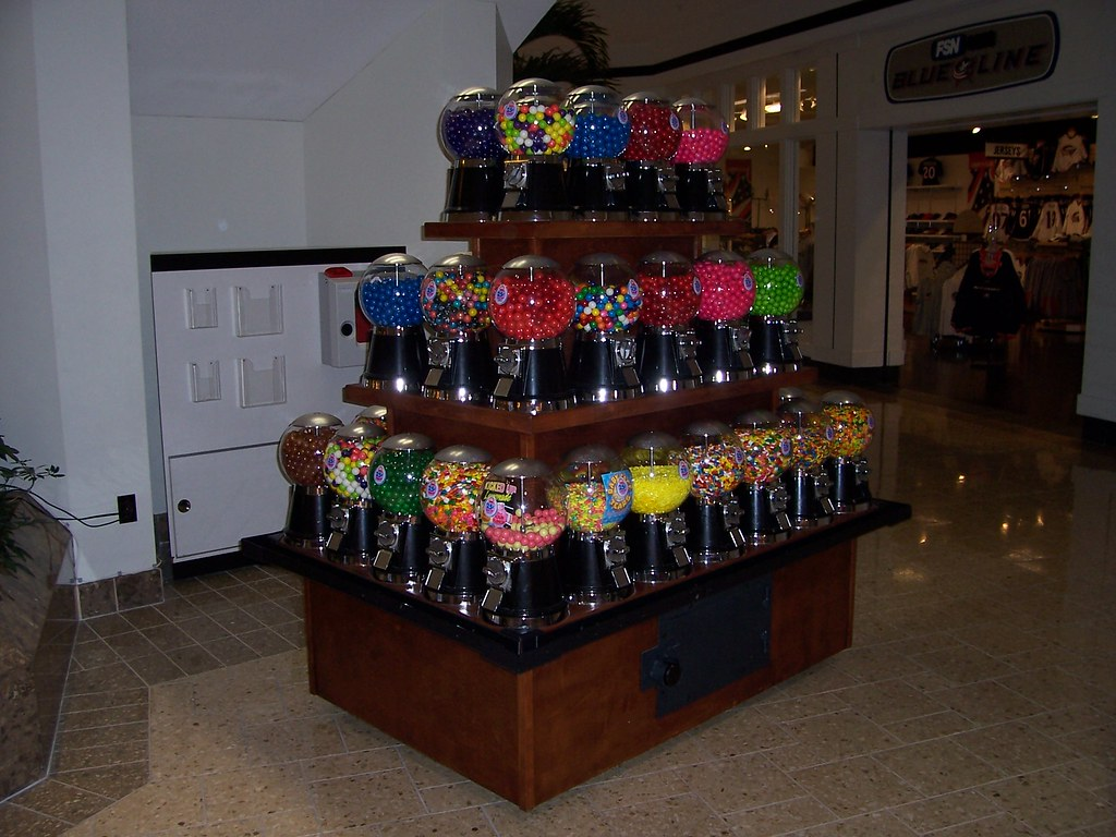 Display of Candy Dispensers