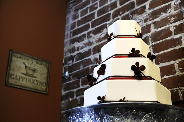 Cotillion Events Hexagon Wedding Cake 2