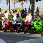 South Beach, Miami, motorcycles, men