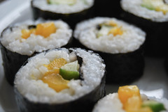meal, steamed rice, sushi, gimbap, produce, food, dish, cuisine, asian food,