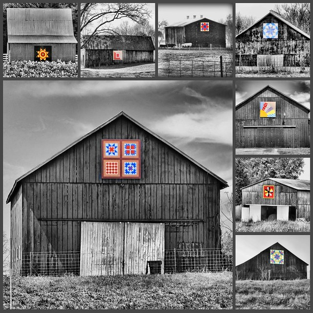 Kentucky Quilt Barns, Houses, Wishing Wells