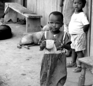 Kenyan girl with uji cup