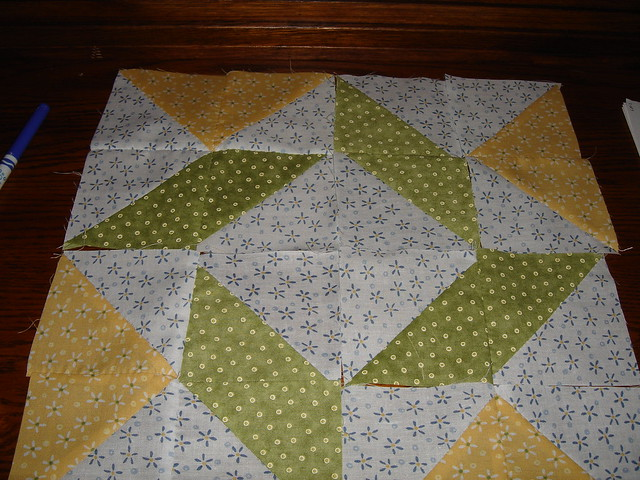 Pizza box quilt block month 3 | Flickr - Photo Sharing!