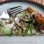 Caramelised Onion, Brie & Courgette Pizza