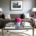 [Real Homes] Neutral living room + pink accents: Modern femininity + symmetry by SarahKaron