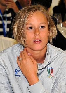 Federica Pellegrini Record del Mondo ed Oro con Freddy ai Giochi del Mediterraneo