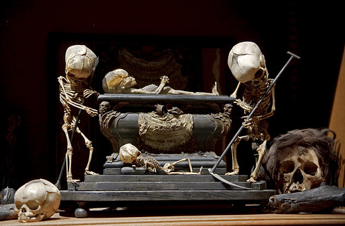 Fetal Skeleton Tableau, 17th Century, University Backroom, Paris by astropop