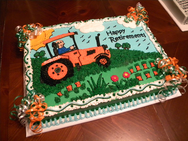Cake Decorating Garden Scene : Farm Tractor Retirement Cake Flickr - Photo Sharing!