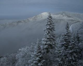 Fog nestled on the mountains