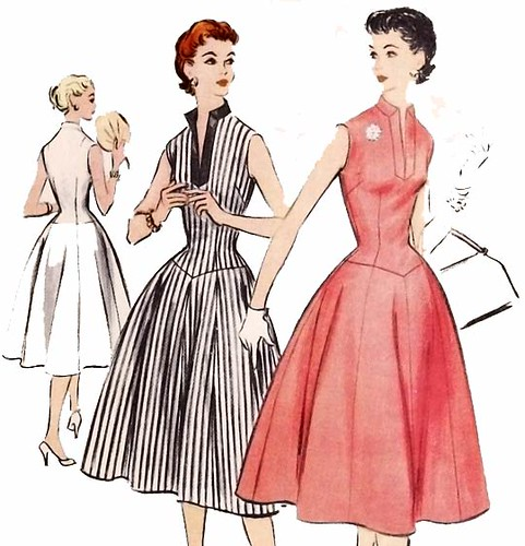 Vintage 1950's rockabilly dress sewing pattern
