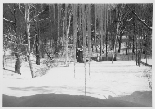 winter blackandwhite tower 35mm maine rangefinder icicle ilford autaut