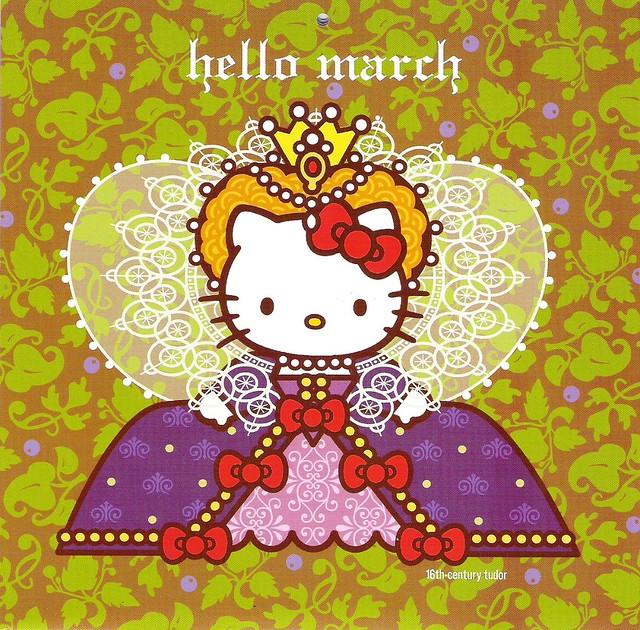 hello kitty calendar march flickr photo sharing