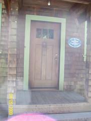 Front door with plaque