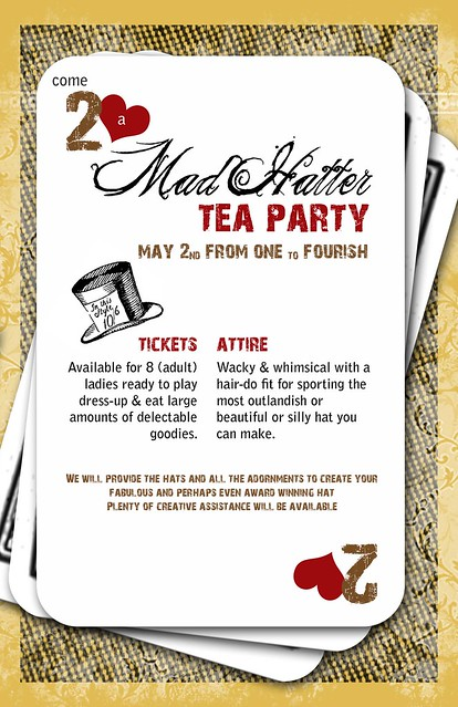 Mad Hatter Invitation Design Flickr Photo Sharing