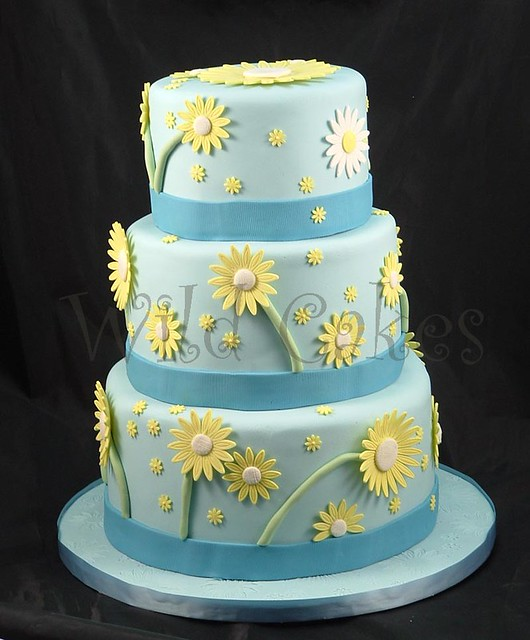 Easter Daisies Wedding Cake