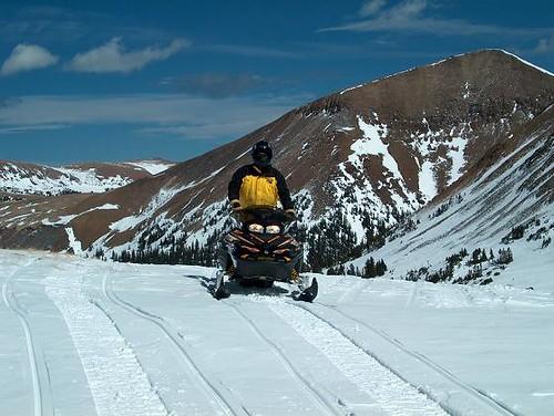 Snowmobiling at American Lakes