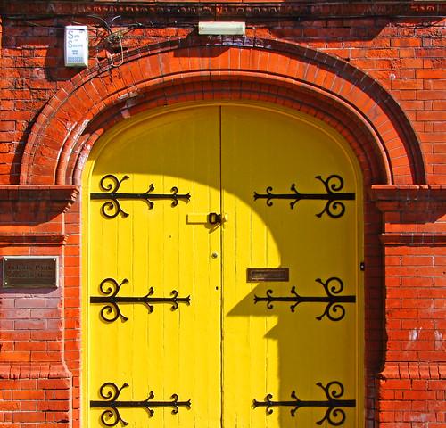 Yellow and brick