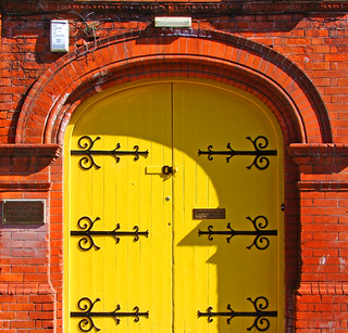 Yellow and brick