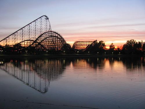 sunset lake ny newyork canon rollercoaster darien darienlake sx100 sx100is canonimous