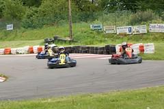Père et fils en compétition sur la piste de Kart - Mortain (50) - France - Vacances mai 2009 - Photo of Vengeons