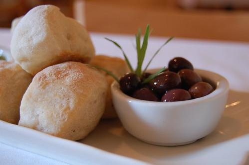 bread, olives