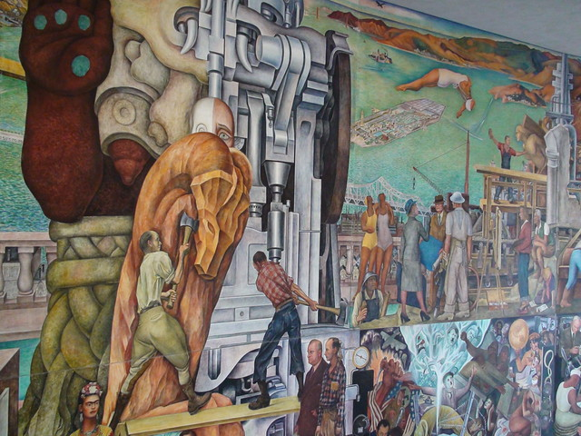 Diego rivera 39 s mural panamerican unity at san flickr for Diego rivera mural in san francisco