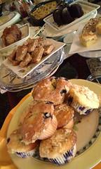 Amazing breakfast cakes at Gunn Historic Inn. Sonora, CA.