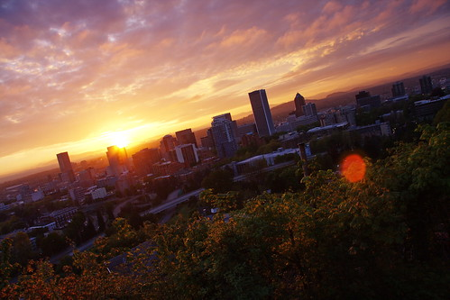 city skyline oregon sunrise portland dawn downtown 44