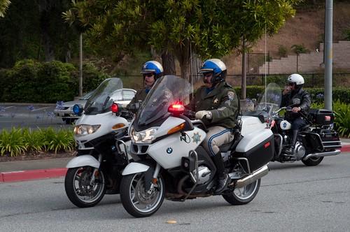 Highway Patrol and SFPD Parade