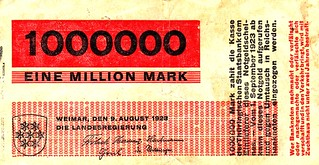Weimar (Thuringen), 1000000 Mark, 1923