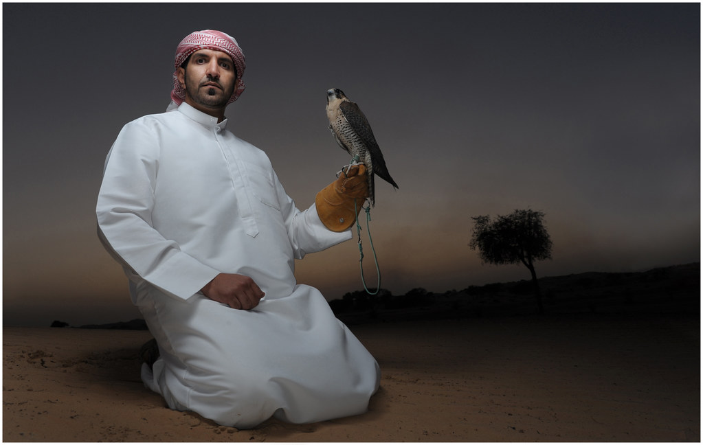 Omar and his Falcon