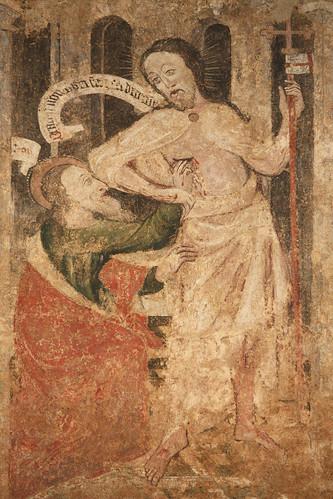 St Thomas touches the Risen Lord