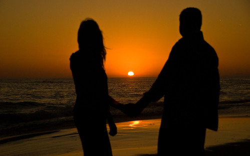 Lovers Silhouette Sunset