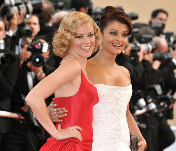 Actresses Elizabeth Banks and Aishwarya Rai Bachchan attends th