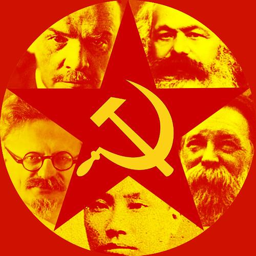 Marxism-leninism red star hammer sickle chinese communist marx engels lenin trotsky chen duxiu