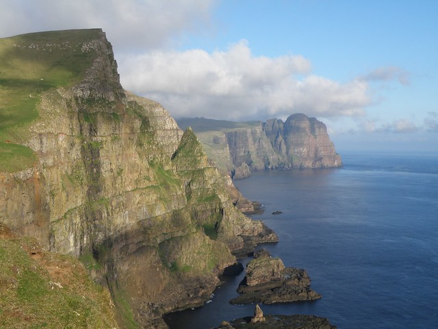 Eggjarnar in the Faroe Islands - View towards Beinisvørð