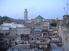 Medina antiga de Fez em Marrocos