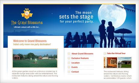 Website Design: The Grand Blossoms