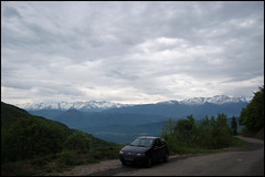 323 - Grenoble-Annecy - My car in front of a beautiful landscape