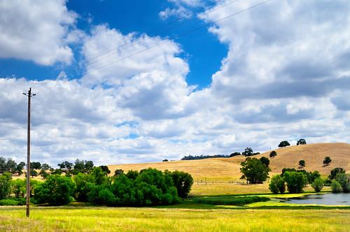 california blue sky white green nature clouds landscape outdoors nikon scenery fields northamerica roadside d300 calaverascounty sigma30mmf14exdchsm